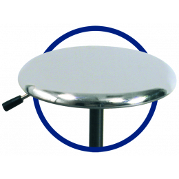 Assise inox pour tabourets Promotal