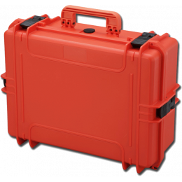 Valise rigide IP67 sans mousse - grande - orange