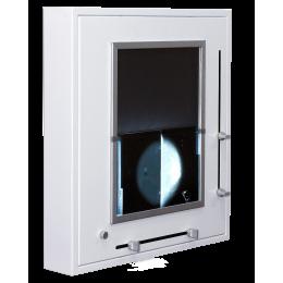 Négatoscope format spécial mammographies à rideau (4 clichés de 18x24 ou 1 cliché de 36x43)