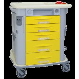 Chariot d'urgence amagnétique 5 tiroirs Aurion