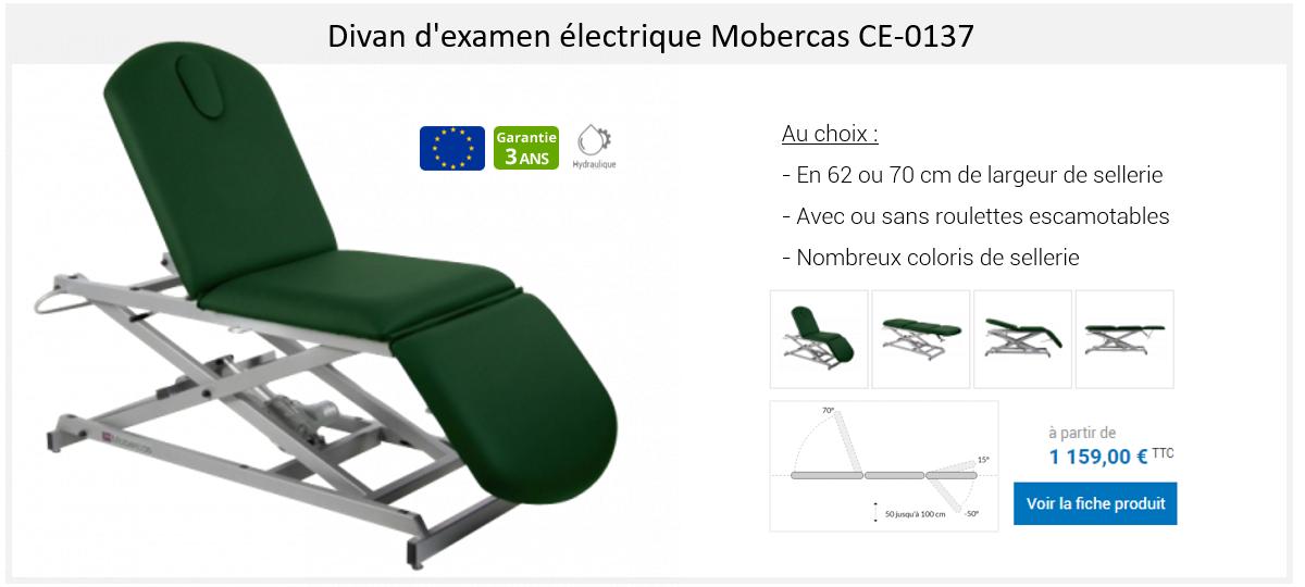 Divan d'examen hydraulique Mobercas CH-0137